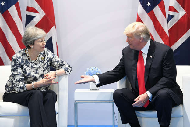 File photo dated 08/07/17 of Prime Minister Theresa May holding talks with US President Donald Trump on the margins of the G20 summit in Hamburg.