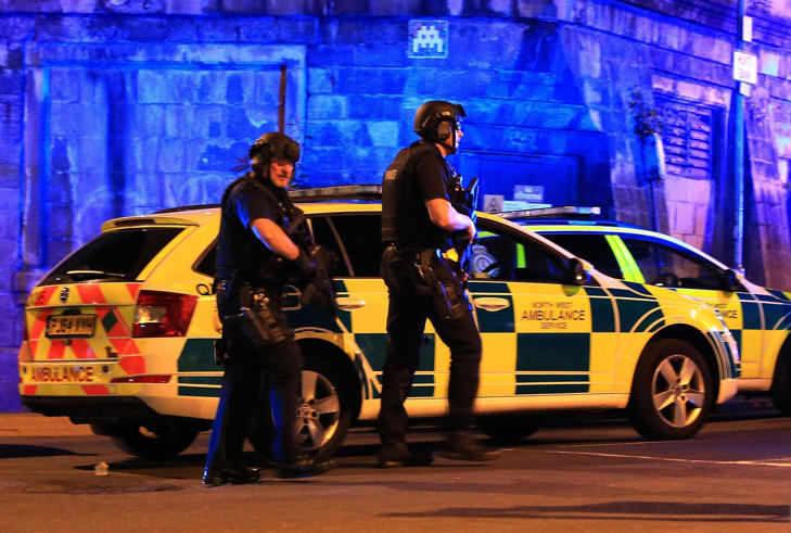 File photo dated 22/05/17 of armed police at Manchester Arena after a terror attack