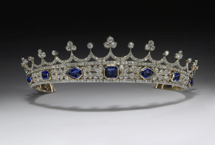 Victoria and Albert Museum Undated handout photo issued by the Victoria and Albert Museum of Queen Victoria's sapphire and diamond coronet, designed by Prince Albert, made by Joseph Kitching, London, 1840- 1842.