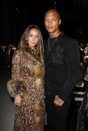 Chloe Green and Jeremy Meeks attend the Ralph & Russo Haute Couture Spring Summer 2018 show as part of Paris Fashion Week on January 22, 2018 in Paris, France.  (Photo by Pierre Suu/Getty Images)