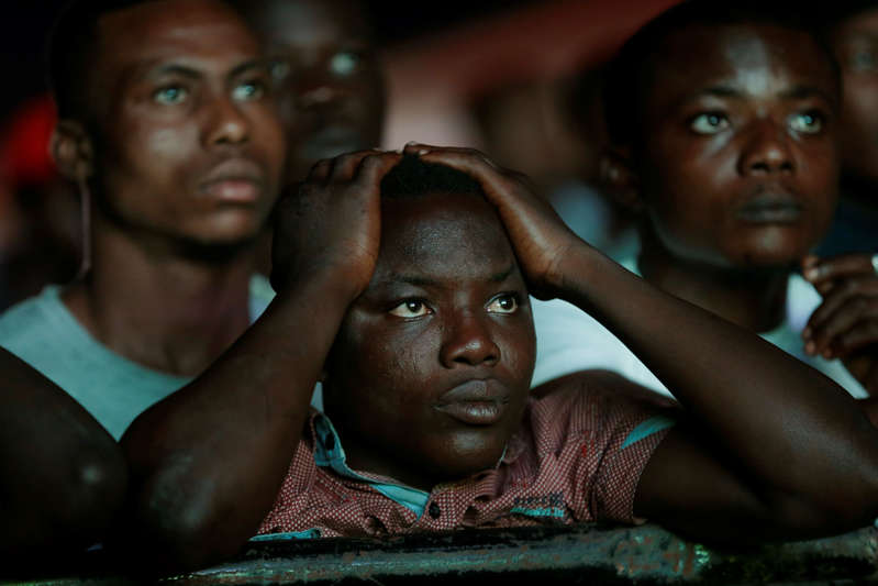 Nigerian fans viewing World Cup