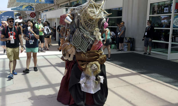 "Slide 1 of 43: A guest dressed as The Junk Lady from ""Labyrinth"" attends day two of Comic-Con International on Friday, July 20, 2018, in San Diego. (Photo by Chris Pizzello/Invision/AP)"