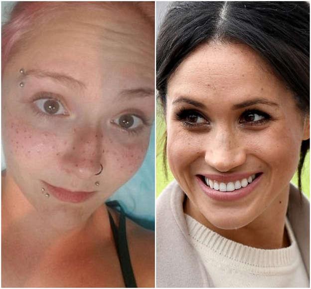 Meghan Markle fan reveals she\'s had freckles TATTOOED onto her face ...