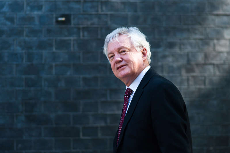 David Davis arrives for a weekly cabinet meeting at 10 Downing Street in central London.