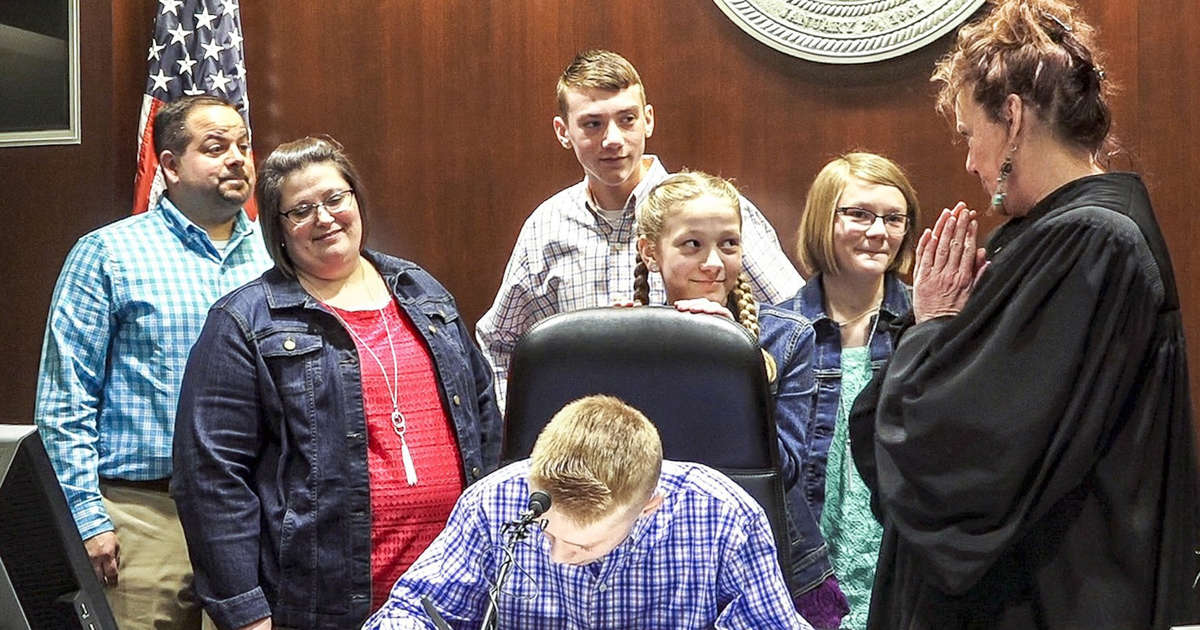 A 'perfect' ending for four Kansas siblings seeking adoption brings