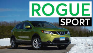 a car parked in a parking lot: 2017 Nissan Rogue Sport Road Test