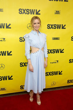 "Slide 19 de 49: AUSTIN, TEXAS - MARCH 09:  Emily Blunt atrends the screening of ""A Quiet Place"" during the South By Southwest Conference and Festivals at the Paramount Theatre on March 9, 2018 in Austin, Texas.  (Photo by Gary Miller/FilmMagic)"