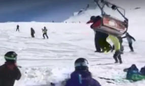 Dangerous lift malfunction in Georgia sends ski hill into chaos