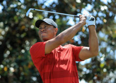 ORLANDO, FL - MARCH 18:  Tiger Woods plays his shot from the second tee  during the final round at the Arnold Palmer Invitational Presented By MasterCard at Bay Hill Club and Lodge on March 18, 2018 in Orlando, Florida.  (Photo by Sam Greenwood/Getty Images)