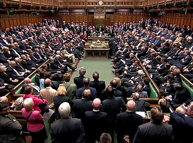 A general view the House of Commons
