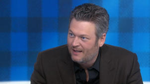 a close up of Blake Shelton: Blake Shelton opens up about his life and new album, 'Texoma Shore'