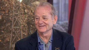 Bill Murray wearing a suit and tie: Bill Murray talks about his new movie 'Isle of Dogs,' which any dog-lover will want to see