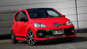 a red car parked on the side of a road: VW Up! GTI by B&B Automobiltechnik