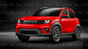 a black and red car: Ford Baby Bronco Render