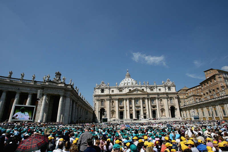 A view of St. Peter's Square at the Vatican City on May 8, 2008 in Vatican.