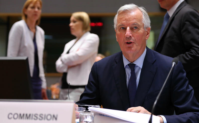 BRUSSELS, BELGIUM - JULY 20 : Chief EU negotiator for Brexit, Michel Barnier attends the General Affairs Council meeting at the European Council in Brussels, Belgium, 20 July 2018. Council will discuss the status of the Brexit talks with the UK. (Photo by Dursun Aydemir/Anadolu Agency/Getty Images)