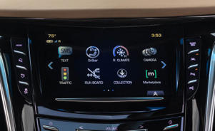 a screen shot of a microwave: 2018 Cadillac Escalade ESV infotainment screen