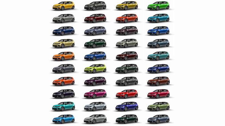 Slide 1 de 8: VW Golf R 2019 - Color Spektrum Program