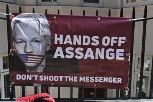 A demonstration took place in support of Julian Assange, outside the Ecuador's Embassy, in Central london on July 23, 2018