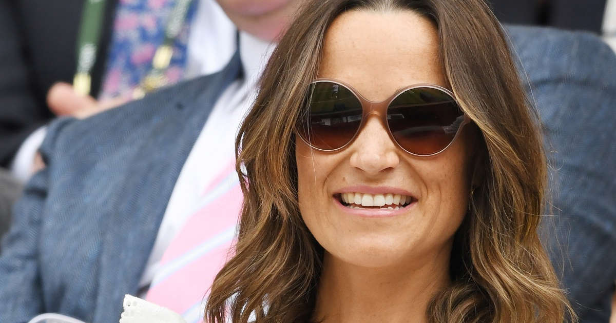 f1e7e65d34f92 Pregnant Pippa Middleton poses in a bathing suit and reveals swimming has  helped her with bloating