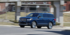 The Lincoln Navigator Is Cool on a Colossal Scale: Even in standard-wheelbase form, the redesigned Lincoln Navigator is undeniably huge-and undeniably luxurious. Read our full review of the Navigator and see photos at Car and Driver.