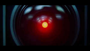 "An excerpt from the 1968 film ""2001: A Space Odyssey"" directed by Stanley Kubrick.  Synopsis: Mankind finds a mysterious, obviously artificial, artifact buried on the moon and, with the intelligent computer HAL, sets off on a quest, where the way the HAL 9000 super computer malfunctions.  © Metro-Goldwyn-Mayer Inc. (MGM)"