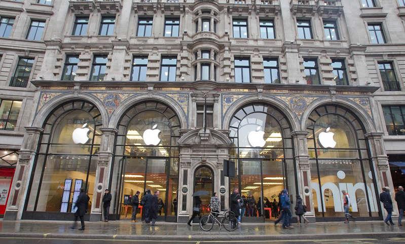 The Apple store in Regents Street, London