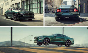 a car driving on a city street: Riding 480 Loud Horses: 2019 Ford Mustang Bullitt Driven!