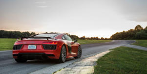 Engine and Transmission: The Audi R8's 5.2-liter V-10 engine is offered in two strengths, both potent enough to knock the wind out of unsuspecting passengers.