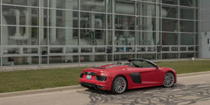 "Cargo Space and Storage: Because the Audi R8's engine is mounted aft of the cabin, the car's four-cubic-foot trunk is actually in front, making it what we often call a frunk (""front trunk"")."