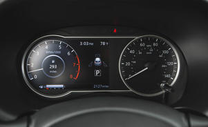 black device with a screen: Fuel Economy and Driving Range