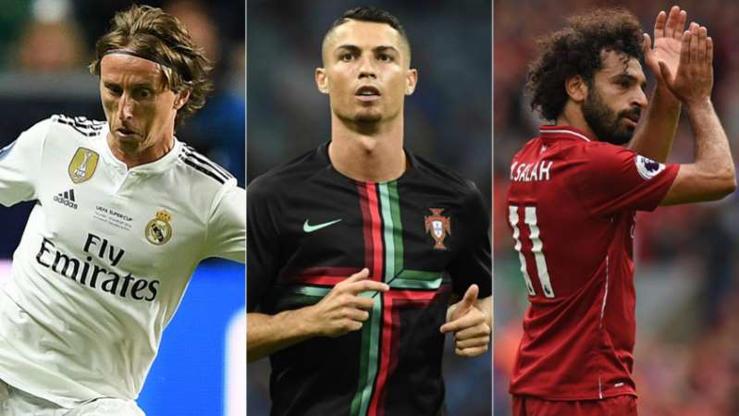 Slide 1 de 17: CR7, Salah e Modric disputam quem é melhor do mundo