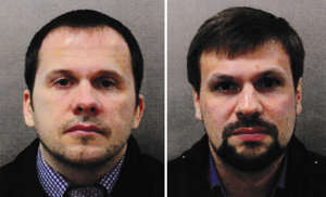 Undated handout photo issued by the Metropolitan Police of Alexander Petrov (left) and Ruslan Boshirov.