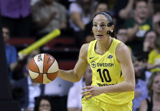 adab6d9fb424 Seattle Storm s Sue Bird in action against the Phoenix Mercury in a  semifinal basketball playoff game