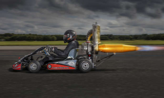 Slide 2 de 30: Tom Bagnall - Fastest Jet Powered Go Kart Guinness World Records 2017 Photo Credit: Richard Bradbury/Guinness World Records