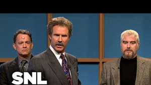 "Will Ferrell, Alexander Gustafsson are posing for a picture: Kathie Lee Gifford (Kristen Wiig), Tom Hanks, Sean Connery (Darrell Hammond) and Burt Reynolds (Norm Macdonald) take on Alex Trebek (Will Ferrell) in a new round of ""Celebrity Jeopardy!"" [Season 34, 2009]  #SNL  Subscribe to SNL: https://goo.gl/tUsXwM  Get more SNL: http://www.nbc.com/saturday-night-live Full Episodes: http://www.nbc.com/saturday-night-liv...  Like SNL: https://www.facebook.com/snl Follow SNL: https://twitter.com/nbcsnl SNL Tumblr: http://nbcsnl.tumblr.com/ SNL Instagram: http://instagram.com/nbcsnl SNL Pinterest: http://www.pinterest.com/nbcsnl/"