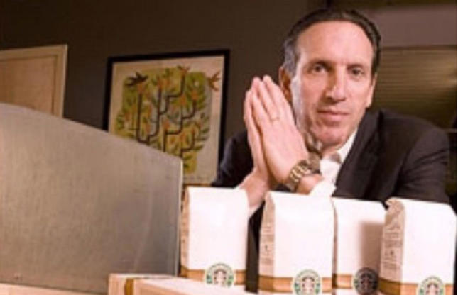 Slide 14 of 67: Howard Schultz is an American self-made billionaire, most famous for making coffee chain Starbucks the global success story that it is. He has a net worth of $2.7 billion (A?2.1bn) and is the 887th richest person in the world. But his upbringing was anything but affluent.
