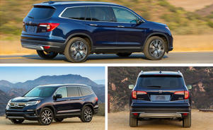a car parked in a parking lot: 2019 Honda Pilot