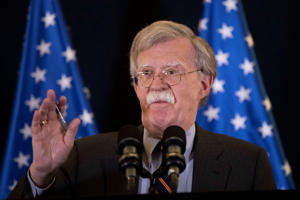 U.S. National Security Advisor John Bolton speaks during a news conference in Jerusalem,  August 22, 2018.