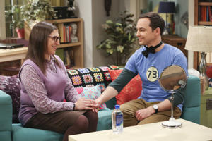 Pictured: Amy Farrah Fowler (Mayim Bialik) and Sheldon Cooper (Jim Parsons).