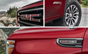 a red car parked on the side: The 2019 GMC Sierra 1500 Is No Longer Just a Pricier Chevy Silverado