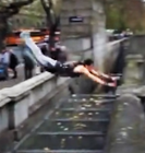 Parkour stunt leads to painful landing