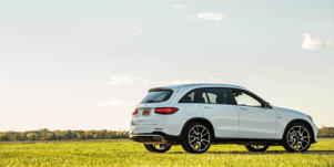Fuel Economy and Driving Range: Its EPA ratings make the Mercedes-AMG GLC43 look a bit thirsty, but it's no worse than most of its rivals.