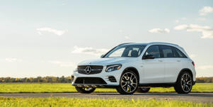 Safety and Driver Assistance: Forward-collision warning and blind-spot monitoring are standard on both Mercedes-AMG GLC43 models, but all other active-safety features are optional.