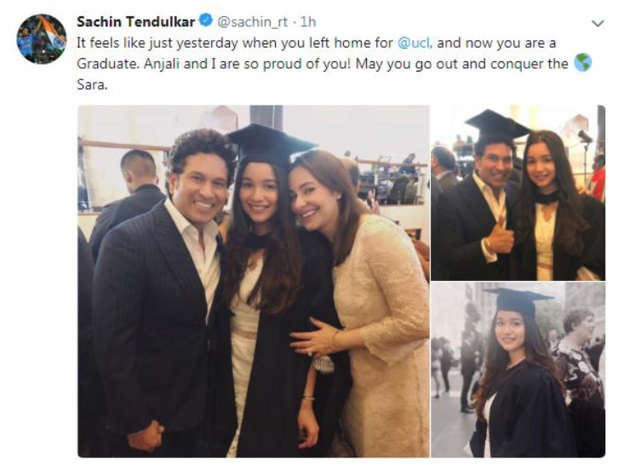 Conquer the world: Sachin Tendulkar tells daughter Sara