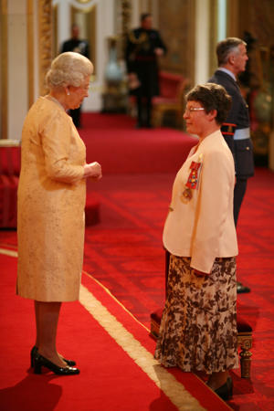 Professor Dame Jocelyn Bell Burnell, visiting Professor of Astrophysics, University of Oxford, from Bradford-on-Avon, is made a Dame Commander of the British Empire by The Queen at Buckingham Palace, for services to Science.   (Photo by PA Images via Getty Images)
