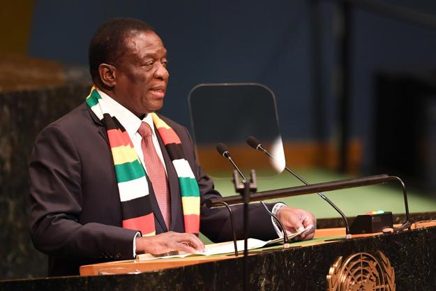 Emmerson Mnangagwa President Of Zimbabwe Addresses The Nelson Mandela Peace Summit September 24 2018