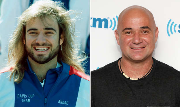 Slide 1 de 45: KANSAS CITY - SEPTEMBER 20: Andre Agassi of the USA is seen before the Davis Cup between US and Germany on September 20, 1991 in Kansas City, United States. (Photo by Bongarts/Getty Images); NEW YORK, NY - SEPTEMBER 05: Andre Agassi visits the SiriusXM Studios on September 5, 2018 in New York City. (Photo by Taylor Hill/Getty Images)
