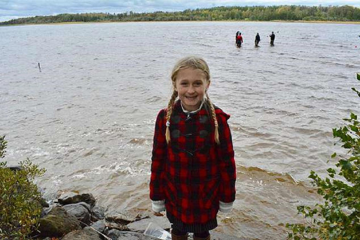 The inquisitive eight-year-old only moved to the country last summer and her father is an avid Minnesota Vikings fan, whose daughter has now found a viking swords