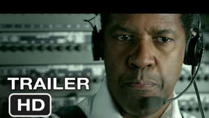 Denzel Washington looking at the camera: Subscribe to TRAILERS: http://bit.ly/sxaw6h Subscribe to COMING SOON: http://bit.ly/H2vZUn Like us on FACEBOOK: http://goo.gl/dHs73 Follow us on TWITTER: http://bit.ly/1ghOWmt Flight TRAILER (2012) Denzel Washington, Robert Zemeckis Movie HD  An airline pilot saves a flight from crashing, but an investigation into the malfunctions reveals something troubling.